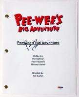 "Pee-wee Herman Signed ""Pee-wee's Big Adventure"" Full Movie Script (PSA COA) at PristineAuction.com"