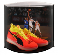 """Deandre Ayton Signed LE Pair of (2) Puma Clyde Court Disrupt Basketball Shoes Inscribed """"Time To Rise"""" With Curve Display Case (Game Day Legends COA & Steiner COA) at PristineAuction.com"""