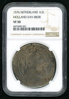 1576 Netherlands - Holland Silver Lion Daalder, DAV-8838 (NGC VF 30)