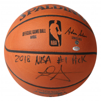 "Deandre Ayton Signed LE Official NBA Game Ball Inscribed ""2018 NBA #1 Pick"" (Game Day Legends COA & Steiner COA) at PristineAuction.com"