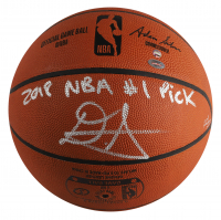 """Deandre Ayton Signed LE Official NBA Game Ball Inscribed """"2018 NBA #1 Pick"""" (Game Day Legends COA & Steiner COA) at PristineAuction.com"""