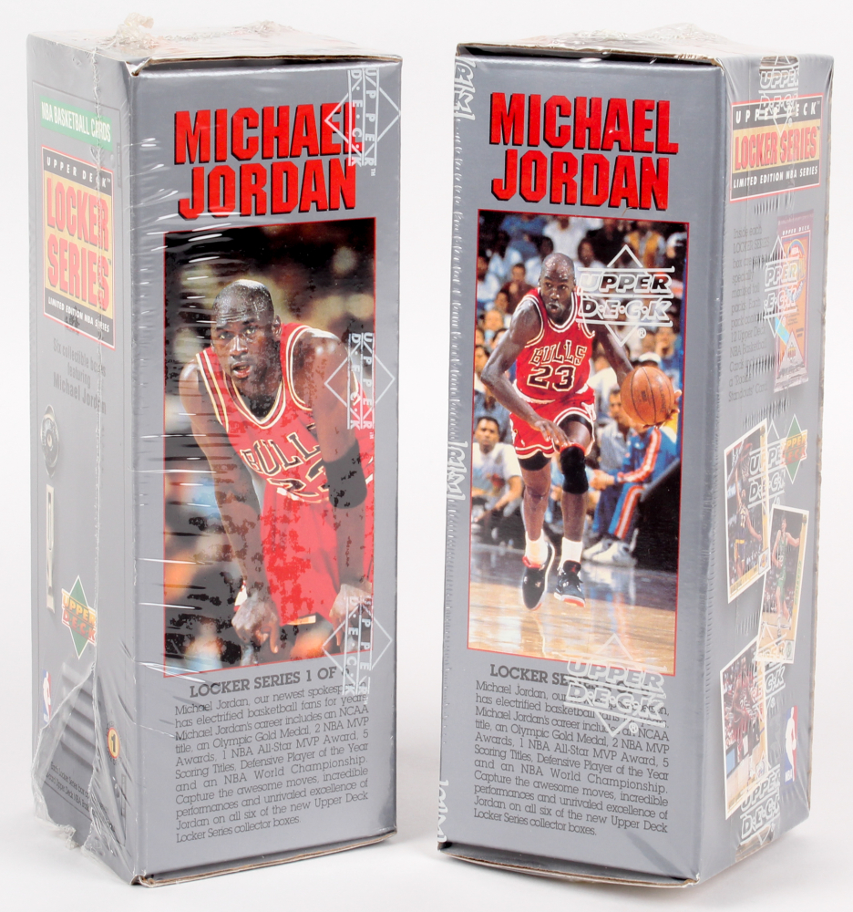 super popular 5ffe3 45da9 Lot of (2) 1991 Upper Deck NBA Michael Jordan Locker Series Unopened Box  with (7) Packs