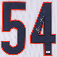 Brian Urlacher Signed Chicago Bears 35x43 Custom Framed Jersey (JSA COA) at PristineAuction.com
