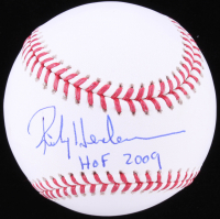 "Rickey Henderson Signed OML Baseball Inscribed ""HOF 2009"" (JSA COA) at PristineAuction.com"