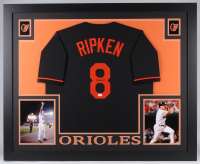 Cal Ripken Jr. Signed Orioles 35x43 Custom Framed Jersey (JSA COA) at PristineAuction.com