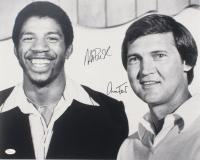Magic Johnson & Jerry West Signed 16x20 Photo (JSA COA) at PristineAuction.com