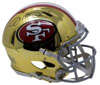 Joe Montana Signed 49ers Full-Size Chrome Speed Helmet (JSA COA)