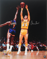 Jerry West Signed Lost Angeles Lakers 16x20 Photo (PSA COA) at PristineAuction.com