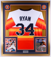 "Nolan Ryan Signed Astros 32x36 Custom Framed Jersey Display Inscribed ""Don't Mess with Texas!"" (PSA COA)"