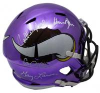 "Vikings ""Purple People Eaters"" Full-Size Chrome Helmet Signed by (4) with Carl Eller, Jim Marshall, Gary Larson & Alan Page (JSA COA)"