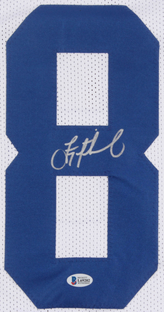 8fec57f2a4c Troy Aikman Signed Cowboys Career Highlight Stat Jersey (Beckett COA) at  PristineAuction.com