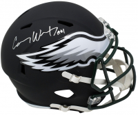 "Carson Wentz Signed Philadelphia Eagles Full-Size Matte Black Speed Helmet Inscribed ""AO1"" (Fanatics Hologram) at PristineAuction.com"