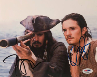 "Johnny Depp & Orlando Bloom Signed ""Pirates of the Caribbean"" 8x10 Photo (PSA LOA) at PristineAuction.com"