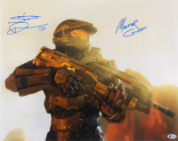 """Steve Downes Signed """"Halo"""" 16x20 Photo Inscribed """"Master Chief"""" (Beckett COA) at PristineAuction.com"""