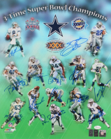 Dallas Cowboys 3-Time Super Bowl Champions 16x20 Photo Signed by (13) with Emmitt Smith, Charles Haley, Michael Irvin, Troy Aikman (JSA COA & Aikman Hologram) at PristineAuction.com
