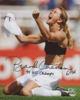 "Brandi Chastain Signed Team USA 8x10 Photo Inscribed ""99 WC Champs"" (AI Verified COA & Schwartz Hologram)"