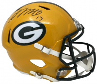 Davante Adams Signed Packers Riddell Full-Size Speed Helmet (JSA COA) at PristineAuction.com