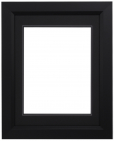 "Custom Frame for 11x14 Photo - Premium Black 2""  Frame with Black/Black Double Matting (Overall Dimensions 17.5"" x 21.5"") at PristineAuction.com"