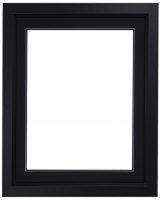 "Custom Frame for 16x20 Photo - Premium Black 2"" Frame with Black/Black Double Matting (Overall Dimensions 23.5"" x 27.5"") at PristineAuction.com"