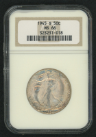 1945-S 50¢ Walking Liberty Silver Half Dollar (NGC MS 66)
