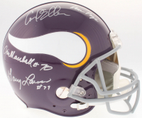 """Vikings """"Purple People Eaters"""" Authentic On-Field Full-Size Throwback Helmet Team-Signed by (4) with Carl Eller, Alan Page, Gary Larsen & Jim Marshall (JSA COA) at PristineAuction.com"""