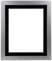 "Custom Frame for 16x20 Photo - Premium Silver 2"" Frame with Black/Black Double Matting (Overall Dimensions 23.5"" x 27.5"") at PristineAuction.com"