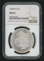 1878-CC $1 Morgan Silver Dollar (NGC MS 63)