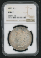 1885-S $1 Morgan Silver Dollar (NGC MS 62)