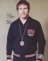 "Dan Gable Signed Team USA 8x10 Photo Inscribed ""Munich Gold"" (Beckett COA)"