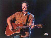 Blake Shelton Signed 11x14 Photo (PSA COA)