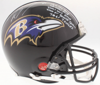 Ray Lewis Signed Ravens Authentic On-Field Full-Size Helmet with (5) Inscriptiions (JSA COA) at PristineAuction.com