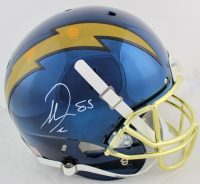 Antonio Gates Signed Chargers Full-Size Navy Blue Chrome Helmet (Beckett COA) at PristineAuction.com