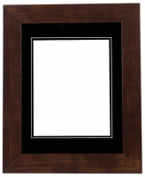 "Custom Frame for 8x10 Photo - Premium Mocha Walnut 2"" Frame with Black/Black Double Matting (Overall Dimensions 14.5"" x 17.5"") at PristineAuction.com"