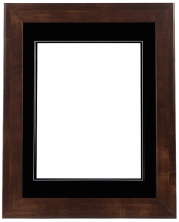 "Custom Frame for 11x14 Photo - Premium Mocha Walnut 2"" Frame with Black/Black Double Matting (Overall Dimensions 17.5"" x 21.5"") at PristineAuction.com"