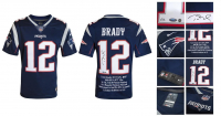 Tom Brady Signed LE Patriots Career Highlight Stat Jersey (Steiner COA & Tristar Hologram) at PristineAuction.com