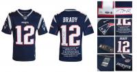 Tom Brady Signed LE Patriots Career Highlight Stat Jersey (Steiner COA & Tristar Hologram) at PristineAuction.com