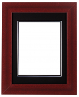 "Custom Frame for 8x10 Photo - Premium Cherry Wood 2"" Frame with Black/Black Double Matting (Overall Dimensions 14.5"" x 17.5"") at PristineAuction.com"