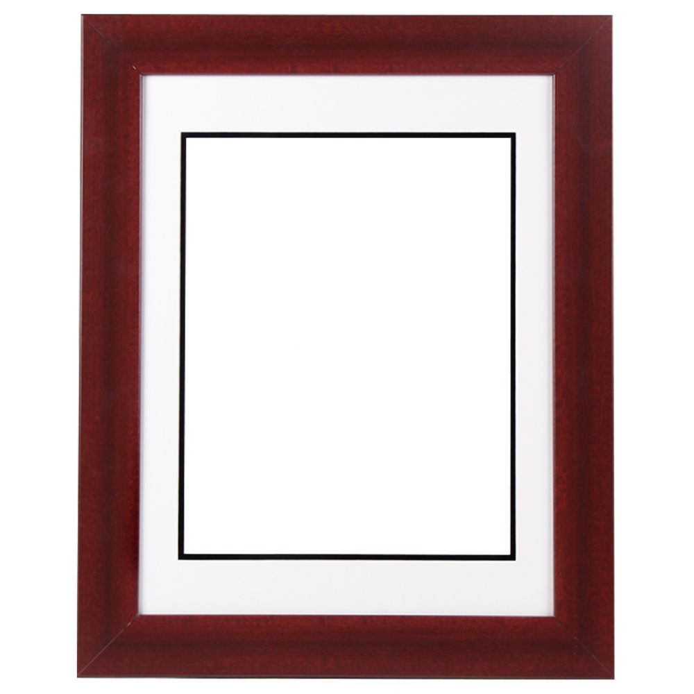 Custom Frame For 11x14 Photo Premium Cherry Wood 2 With White Black Double Matting Overall Dimensions 17 5 X 21