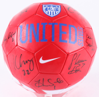 2015 Team USA Women's Soccer Nike Soccer Ball Team-Signed by (9) with Carli Lloyd, Hope Solo, Morgan Brian, Amy Rodriguez (JSA COA)