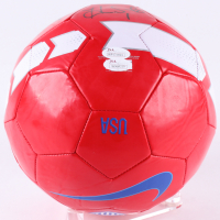 2015 Team USA Women's Soccer Nike Soccer Ball Team-Signed by (9) with Carli Lloyd, Hope Solo, Morgan Brian, Amy Rodriguez (JSA COA) at PristineAuction.com