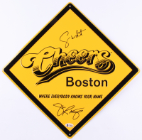 "George Wendt & John Ratzenberger Signed ""Cheers"" 12x12 Street Sign (Beckett COA) at PristineAuction.com"