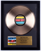 """The Police """"Synchronicity"""" Custom Framed 16x20 Gold Plated Record Album Award Display"""
