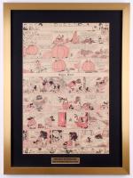 Original Disney 1933 Silly Symphony 20x27 Custom Framed Newspaper Comic Strip