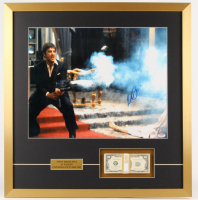 "Al Pacino Signed ""Scarface"" 25.5x26.5 Custom Framed Display with Movie Prop Money (PSA COA)"