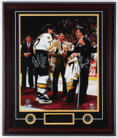Ray Bourque & Phil Esposito Signed Bruins 23x27 Custom Framed Photo Display (JSA COA)