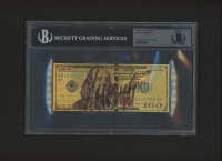 Donald Trump Signed Gold Novelty $100 Dollar Bill (BGS Encapsulated)