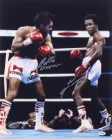 Sugar Ray Leonard & Roberto Duran Signed 16x20 Photo (PSA COA)