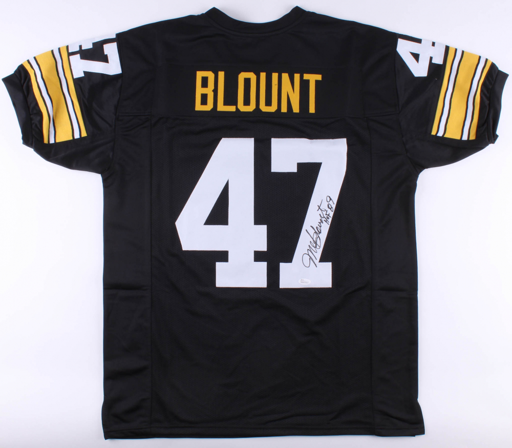 5e54b960e Mel Blount Signed Pittsburgh Steelers Jersey Inscribed