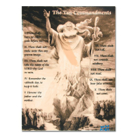 """Ringo Signed """"Ten Commandments"""" One-of-a-Kind 12x16 Hand Pulled Silkscreen & Mixed Media on Canvas at PristineAuction.com"""