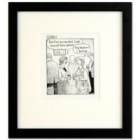 "Dan Piraro Signed Bizarro ""Boring Hubby"" 13x14 Custom Framed Original Pen & Ink Drawing at PristineAuction.com"